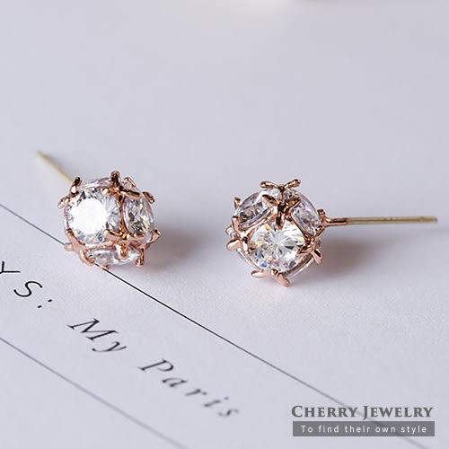 925銀針玲瓏球耳環 【櫻桃飾品】【10397】