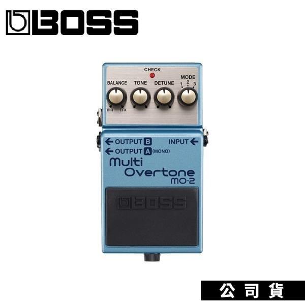 【南紡購物中心】多重泛音效果器 BOSS MO2 Overtone 電吉他單顆失真效果器