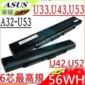 ASUS 電池-華碩 電池 U33,U42,U43,U52,U33JC,U33JT,U42F,U42JC,U42SD,U43F,U43JC,A32-U53