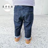 牛仔褲男童褲子新款夏裝薄款牛仔褲寶寶防蚊褲嬰幼兒春秋夏季童裝潮滿699打89折