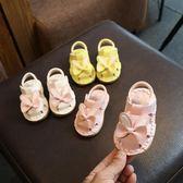 夏季女寶寶涼鞋軟底學步6-12個月女嬰幼兒0公主鞋嬰兒子8夏天1歲2   初見居家