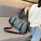 旅行包女小型手提輕便短途網紅運動健身背包收納袋子男士小行李包  一米陽光