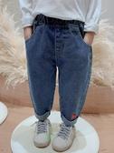 牛仔褲女童牛仔褲2020新款春秋兒童洋氣韓版時髦小童長褲女寶寶春裝褲子 新品