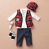 【金安德森】秋冬彌月禮盒-三件式男生款背心套裝(共二色)