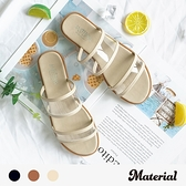 拖鞋 透明雙帶平底拖鞋 MA女鞋 T52001