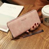 2018新款韓版時尚多功能可放6寸手機女士復古手提手拿長款零錢包