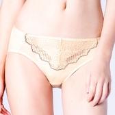 思薇爾-桐花漫舞系列M-XXL蕾絲中腰三角內褲(金赭色)