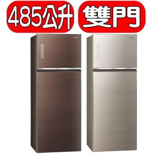 國際牌【NR-B489TG】485L玻璃雙門變頻冰箱 NR-B489TG-N/NR-B489TG-T
