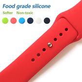 適用于蘋果手表硅膠表帶iwatch智能運動手表帶原扣式腕帶21色【韓衣舍】