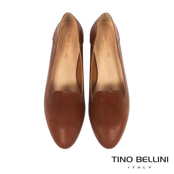 Tino Bellini 義大利進口經典臘感樂福鞋 _ 棕 A83011A 歐洲進口款