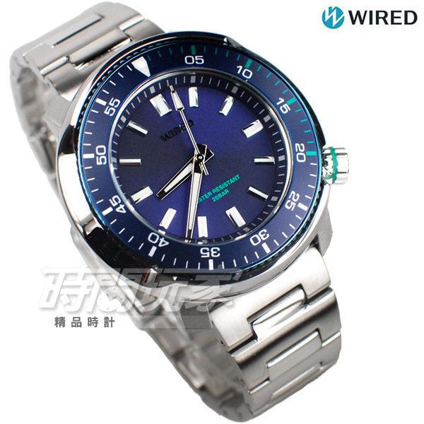 WIRED SOLIDITY 復古軍式風格 個性潮男 不銹鋼 男錶 防水錶 200米 潛水錶 AY8033X1 VH31-KGC0B