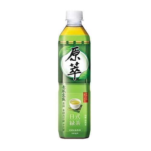 原萃 日式綠茶 無糖 580ml (4入)/組【康鄰超市】