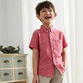 男童襯衫短袖夏季中大兒童半袖夏裝