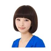 整頂假髮(真髮絲)-齊瀏海可愛鮑伯頭短髮女假髮2色73vc18【時尚巴黎】