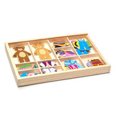 磁性小熊換衣服 益智玩具 多熊換衣 木制玩具 拼圖拼板