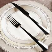 新品家用不銹鋼西餐刀叉 正餐牛排刀 家居餐具 情侶兩件套裝   LannaS