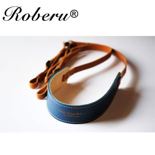 雙色皮革 相機背帶-藍【日本 ROBERU】適微單眼眼相機