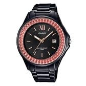 【CASIO】繽紛亮眼時尚腕錶-黑面X橘圈 (LX-500H-1E)