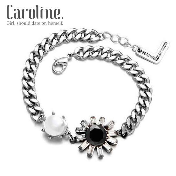 《Caroline》★流行時尚韓星最愛潮流歐美寶石時尚手環69420