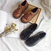 娃娃鞋 英倫馬丁鞋大頭圓頭單鞋日系皮鞋女厚底松糕鞋 艾米潮品館