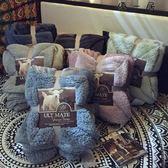 馬卡龍雙層羊羔絨毛毯加厚蓋毯
