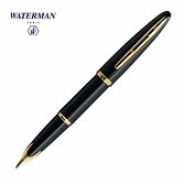 Waterman海洋筆系黑桿包金夾18K鋼筆