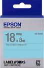 LK-5LAS EPSON 標籤帶 (藍底灰字/18mm) C53S655412