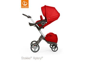 Stokke Xplory 嬰兒手推車(V4)-紅色(商品出清)