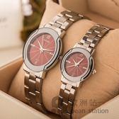 手錶/情侶男女對錶鋼帶石英錶防水款「歐洲站」