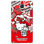 Hello Kitty Samsung Note 4 彩繪膜彩繪貼手機外殼保護貼 包膜KT