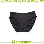 【Mountneer 山林 女 透氣三角內褲《黑色》】11K80-01/透氣內褲/排汗內褲/三角褲
