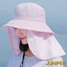 抗UV防潑水防曬可拆式披風淑女遮陽帽J7499 JUNIPER