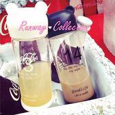 【R】果汁杯 玻璃杯 便攜 情侶杯 透明 時尚小熊 杯子 水杯