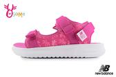 New Balance 750 中大童涼鞋 成人女款 椰樹花紋 透氣清涼 運動涼鞋 O8533#桃紅◆OSOME奧森鞋業