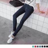OB嚴選《BA1293-》瘦型出色~顯瘦質感丹寧窄管褲‧7色--適 S~XL