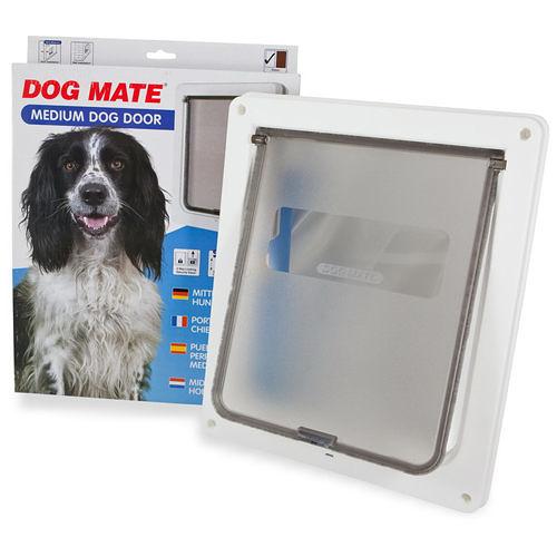 【寵物王國】英國Dog Mate/CA-PT-215W中狗門(白)