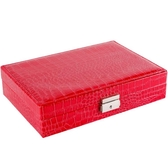 店長推薦 Rania皮質首飾盒木質飾品收納盒公主歐式簡約清新歐式帶鎖戒指盒