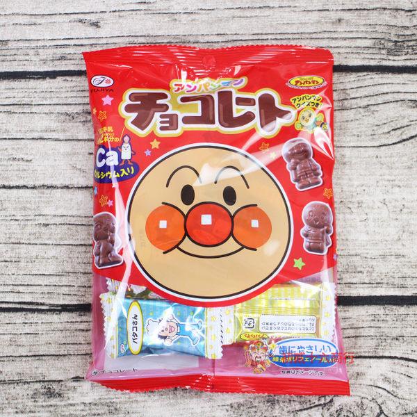 日本零食巧克力Fujiya不二家 麵包超人造型巧克力69g【0216零食團購】4902555164434