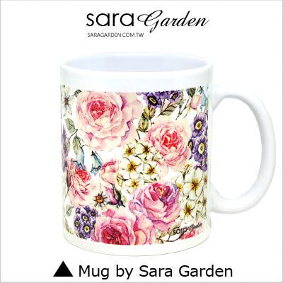 客製 手作 彩繪 馬克杯 Mug 手繪 水彩 玫瑰花 碎花 花叢 咖啡杯 陶瓷杯 杯子 杯具 牛奶杯 茶杯