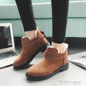 靴子新款百搭棉鞋女冬季雪地靴皮毛一體防滑平底短靴·蒂小屋