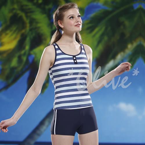 ☆小薇的店☆泳之美品牌【清新條紋風格】時尚二件式泳裝特價990元 NO.2277(S-XL)