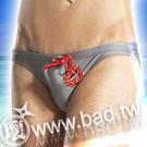 【壞男網購最低價】《型男低腰彈性復古圖騰三角泳褲(灰)》【M / L / XL】
