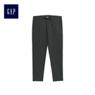 Gap男裝 時尚純色休閒長褲 500393-溫和黑色