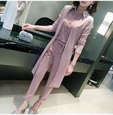 2021新款女裝韓版氣質修身上衣女休閒長褲蕾絲三件套時尚套裝女秋 依凡卡時尚