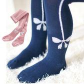 銀絲蝴蝶結包腳褲襪 褲襪 童裝 襪子