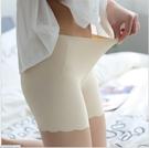 88柑仔店--夏款女士防走光一片式加襠短褲冰絲無痕三分褲安全褲薄款打底褲 (A0766)