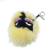 FENDI 黃x黑色怪獸毛球吊飾 鑰匙圈 Monster Bag Bugs Bag Charm【二手名牌BRAND OFF】