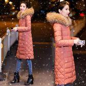 中大尺碼外套 好康推薦新款棉衣女中長版反季過膝羽絨棉服繡花修身冬季女外套潮棉襖