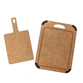 HOLA 高密度木纖維手提砧板+止滑砧板2入組