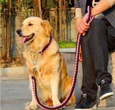牽繩大狗狗牽引繩胸背帶項圈小型遛狗繩金毛狗鏈子中型大型犬狗繩P鏈 (一件免運)